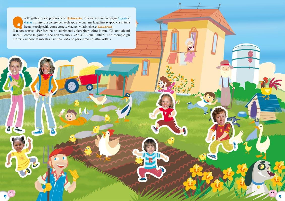 Gita scolastica in fattoria libro personalizzato per bambini for Costo di costruzione moderno della fattoria