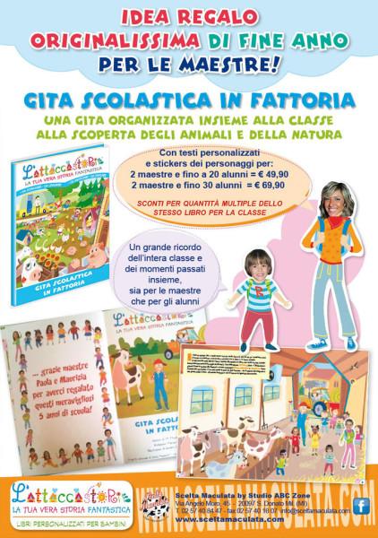 Gita Scolastica in Fattoria – libro personalizzato – anteprima